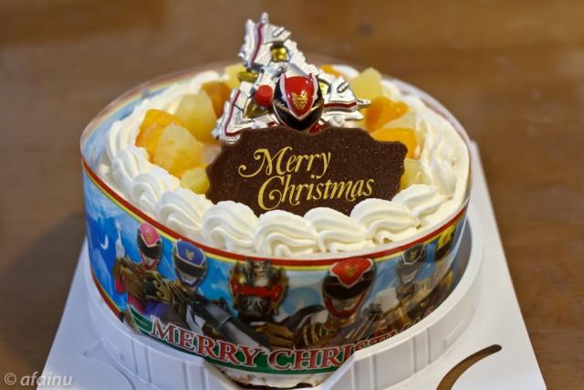 ゴセイジャーのクリスマスケーキ