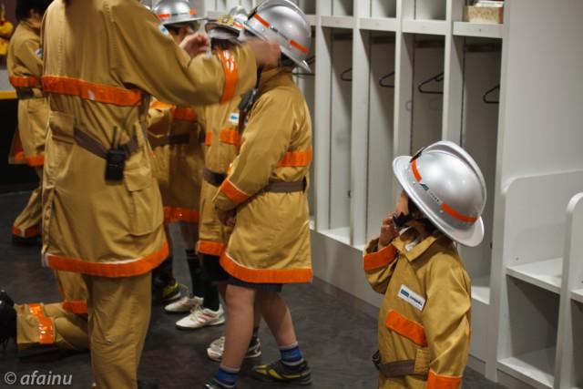 消防服にお着替え完了