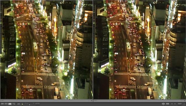 LR3とOV2の現像結果比較(左: LR3, 右: OV2)