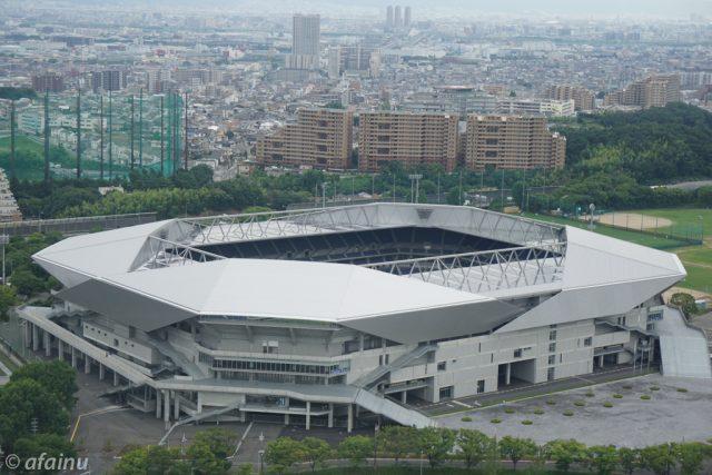 吹田スタジアムを見下ろす