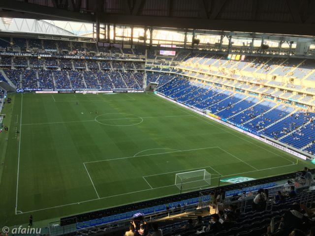 試合開始前の吹田スタジアム