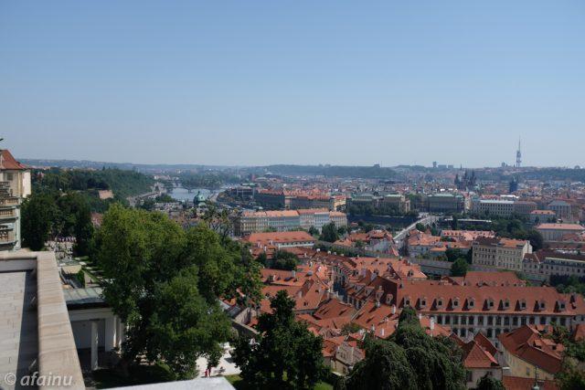プラハの街を望む